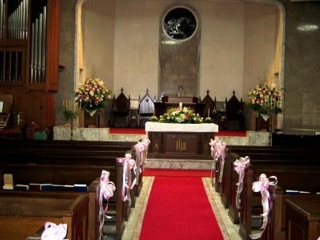 wedding in chunch